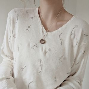 White embroidered sweater